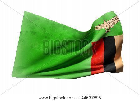 Republic Of Zambia Flag Waving