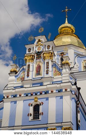 Kiev Ukraine - June 8 2016. St. Michael's Golden-Domed Monastery.