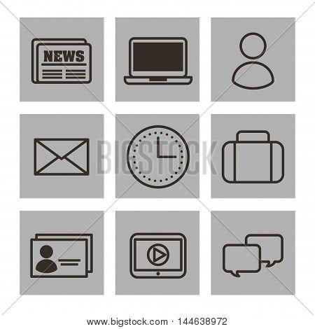 set social media icons vector illustration design