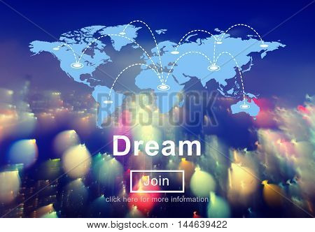 Dream Big Goal Target Aspirations Motivation Imagination Concept