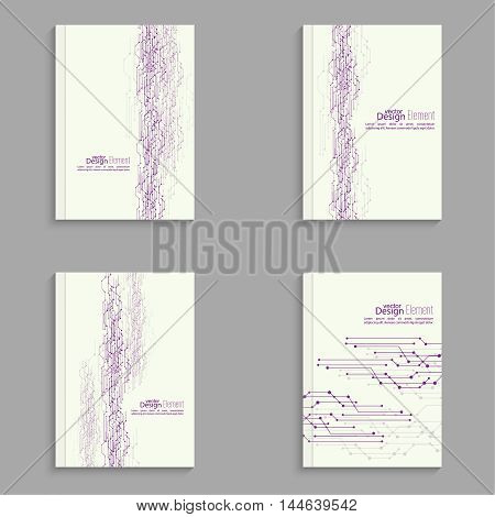Magazine Cover with curved lines, dot and particle. For book, brochure, flyer, poster, booklet, leaflet, cd cover design, postcard, business card annual report vector abstract background