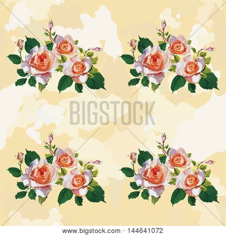 Seamless floral pattern with rose roses Vector Illustration EPS8