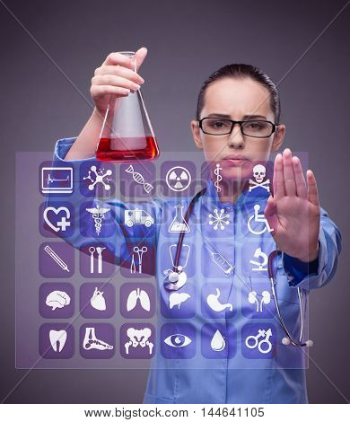 Lab doctor in medical concept