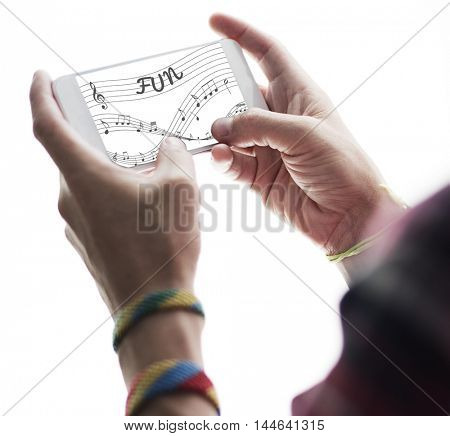 Music Notes Entertainment Melody Listening Concept