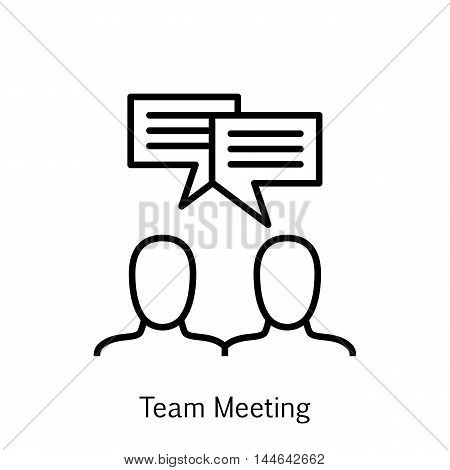 Vector Illustration Of Project Management Icon On Brainstorming, Team Meeting And Discussion In Tren