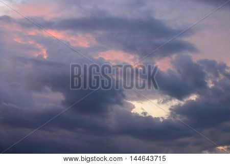 Sunrise. Colorful Sky and Cloud Beautiful nature : you may be used as background :