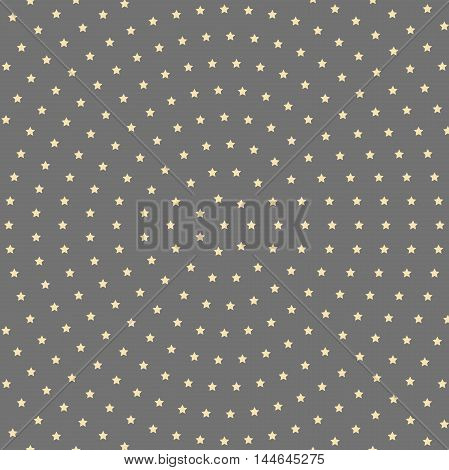 Geometric modern vector pattern. Fine ornament with golden stars