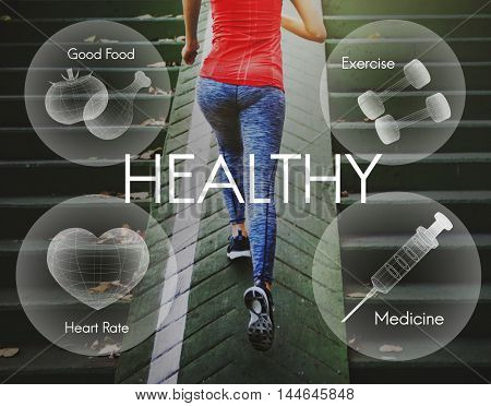 Healthcare Fitness Exercise Healthy Wellbeing Concept