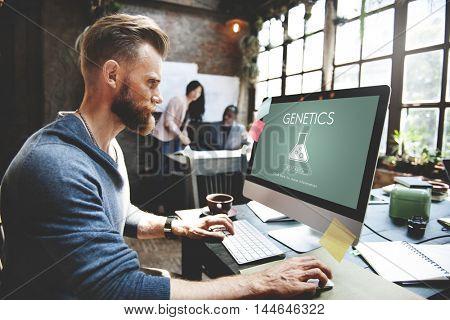 Scientific Biochemistry Genetics Engineering Concept