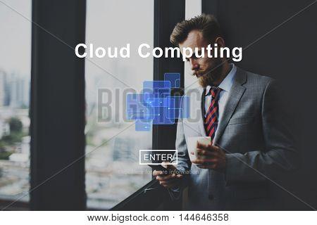 Cloud Computing Network Storage Technology Data Concept