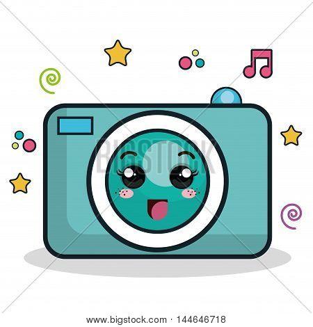 camera photographic character icon vector illustration design