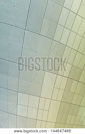 Seoul, South Korea - August 14, 2016: Part Of Ceiling Of Dongdaemun Design Plaza Roof In Seoul, Desi