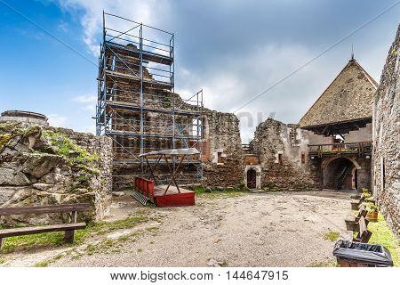 Ruin castle of Visegrad Hungary, outdoor shot
