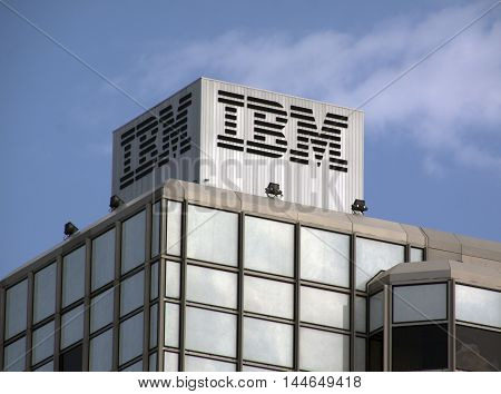 Ibm Building In Amsterdam Letters On Top