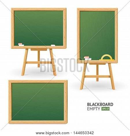 Green Board Set for Restaurants and Cafes. Different View. Vector illustration
