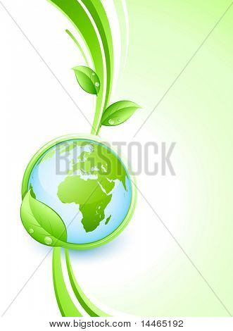 Green earth and leaves