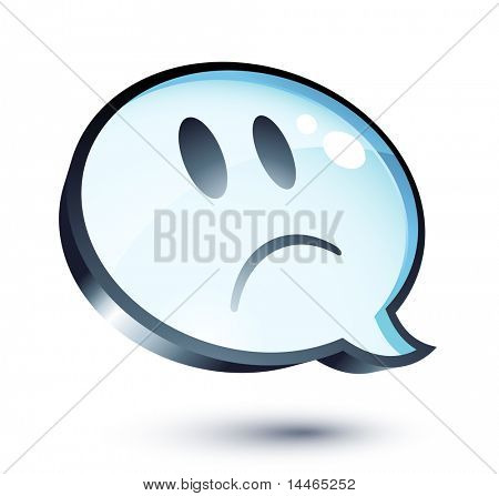 Sad cartoon bubble