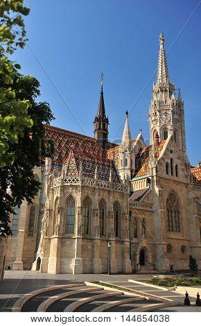 Saint Matthew church at sunrise Budapest Hungary