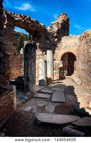 Ancient City of Ephesus. Street among ruins