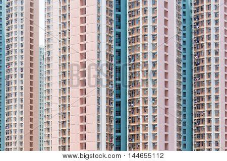 Facade building of skyscraper