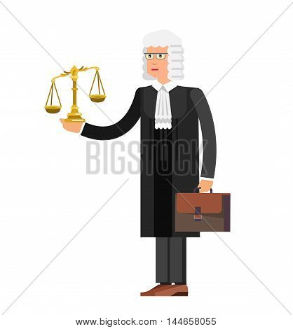Law Vector detailed character the judge. Law cool flat illustration