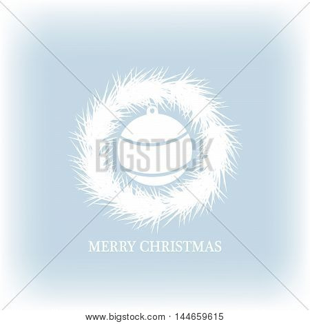 vector merry christmas and new year frame illustration