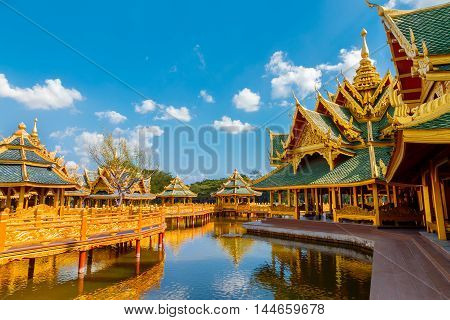 Pavilion of the Enlightened at Ancient Siam in Bangkok Thailand