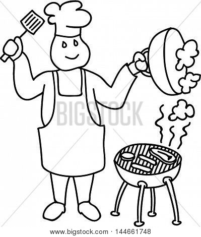 Civil Work Force BBQ Chef Service the Public