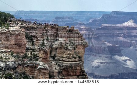 View of one of the overlooks at Grand Canyon National Park in Arizona.