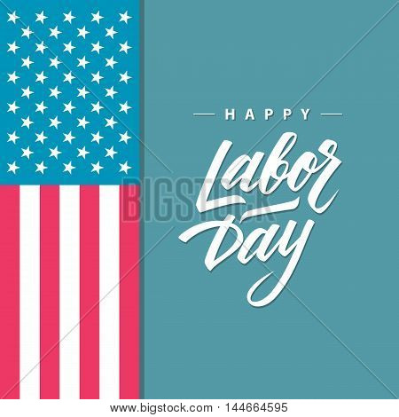 Happy Labor day greeting card with handwritten inscription. Hand Drawn element for your design. Vector illustration.