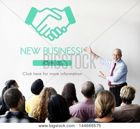 Business Organization Handshake Graphics Concept
