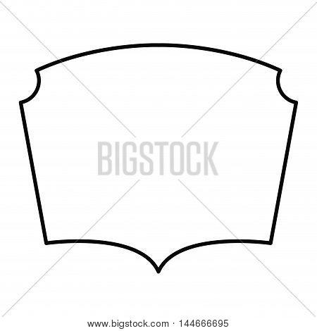 elegant frame decoration isolated vector illustration design