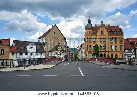 Eschwege old city streets in Europe, Germany