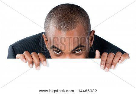 black man with panel