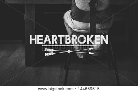 Despair Loneliness Unhappy Heartbroken Concept