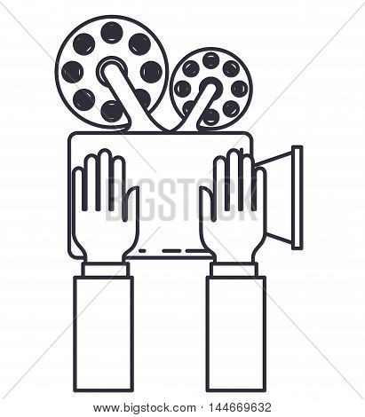 video camera isolated icon vector illustration design