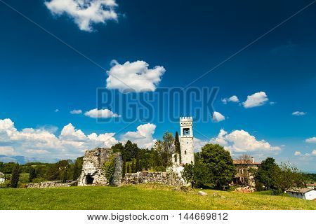Ancient And Ruined Castle In The Italian Countryside