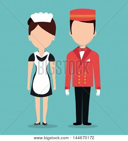 room service hotel isolated icon vector illustration design