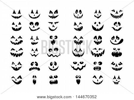 Collection of sketch doodle silhouettes for Halloween