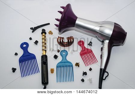 Hair Dryer Curling Iron And Hair Accessories