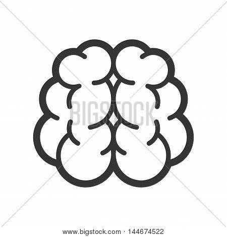 Brain Logo Icon on White Background. Vector illustration