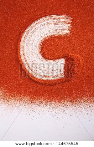 ground chili powder with alphabet c