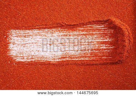 full frame texture of  chili powder