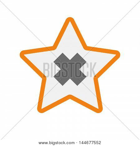 Isolated  Line Art Star Icon With An Irritating Substance Sign