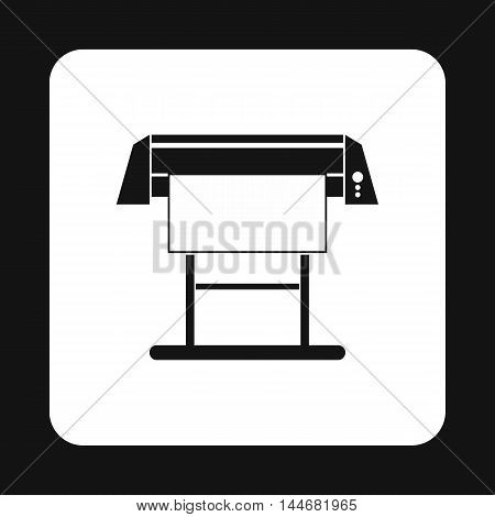 Large format printer icon in simple style on a white background