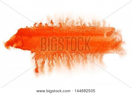 Red thick line - abstract watercolor background - space for your own text