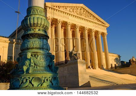 Supreme Court Building in Washington DC