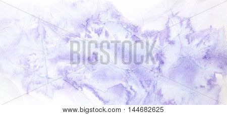 Blue violet abstract watercolor background with texture of crumpled paper