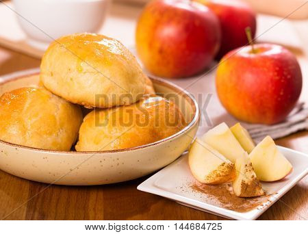 Fresh homemade apple patty cakes closep shot