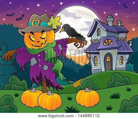 Halloween scarecrow theme image 4 - eps10 vector illustration.